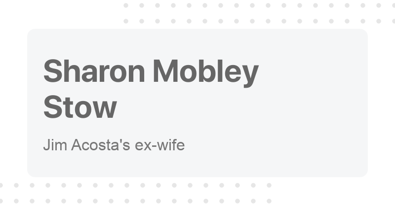 Sharon Mobley Stow Sharon mobley on wn network delivers the latest videos and editable pages for news & events, including entertainment, music, sports, science and more, sign up and share your playlists. cofactor